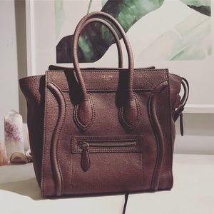 Celine Micro Luggage Tote Bag